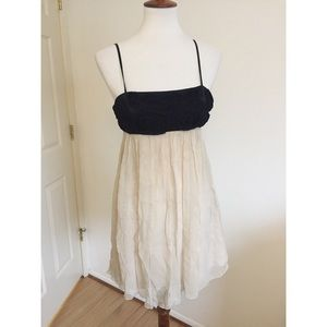 BCBGMaxAzria • Silk Rosette Babydoll Dress